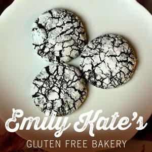 EmilyKate GLUTEN FREE Chocolate Crinkle Cookies (Qty - 6)